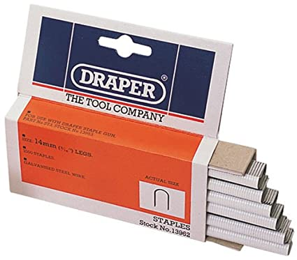 Draper 13962 14 mm Cable Staples (Box of 1000) Draper Tools Hand Tools Staplers