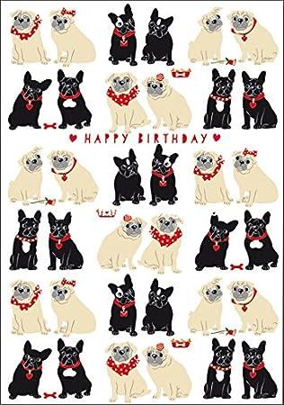 Gluckwunschkarte Zum Geburtstag Carola Pabst Hunde Mops Amazon