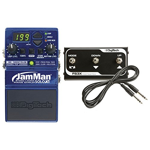 Digitech Jamman Solo XT Looper Guitar Pedal + FS3X Footswitch Bundle