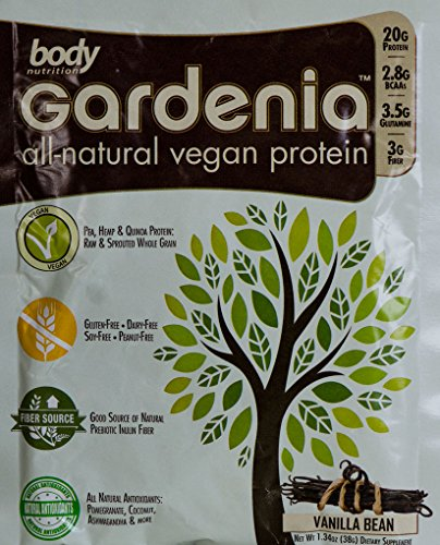 Body Nutrition Gardenia Vanilla Bean All Natural Vegan Protein 38 GR Sample