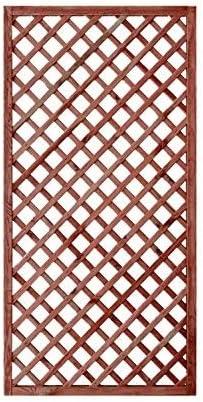 Panel de rejilla de madera tratada, para jardín y terraza, 180 x 90 cm: Amazon.es: Jardín