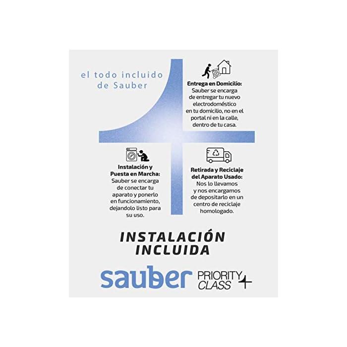 5118Jh1mA5L Haz clic aquí para comprobar si este producto es compatible con tu modelo Sauber Priority Class: ENTREGA, CONEXIÓN Y RETIRADA DEL USADO EN SU DOMICILIO INCLUIDO. Capacidad de carga (kg): 6 Kg, Clasificación Energética: A+++. Las lavadoras de la serie EcoBlue de Sauber facilitan el cuidado de tu ropa y de tu lavadora, con el menor consumo energético y fácil control.