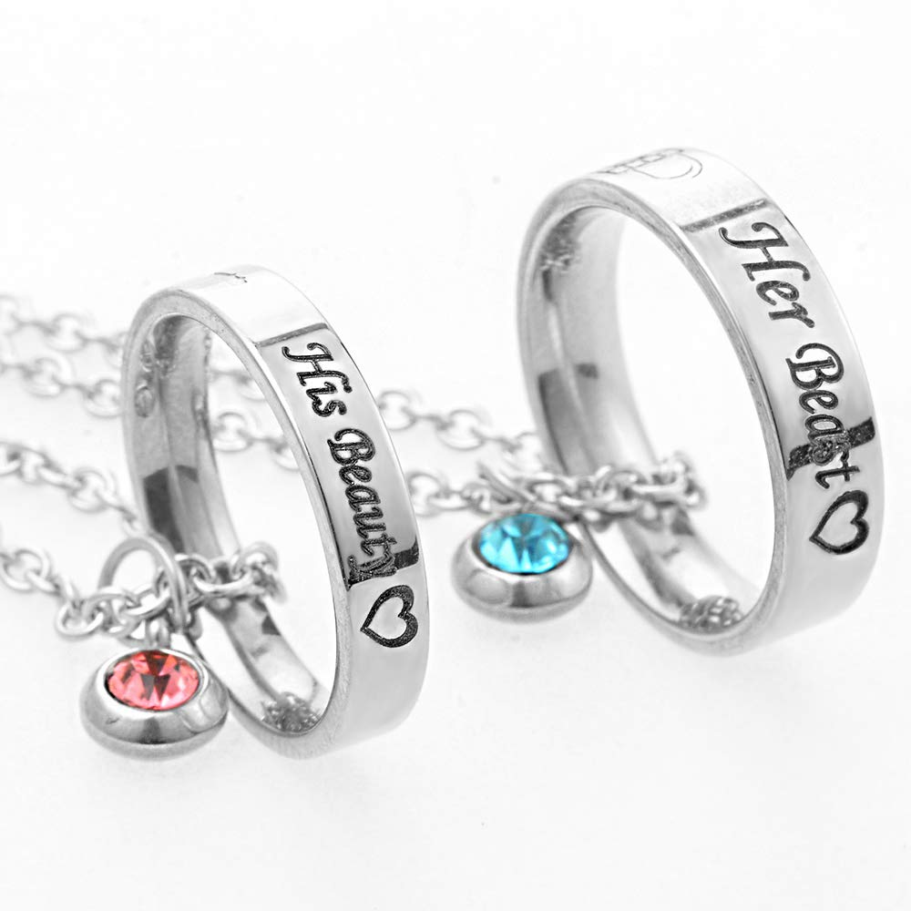 Deal MJartoria Matching Necklaces for Couples, His and ...
