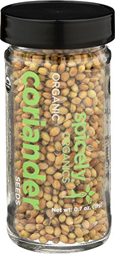 Spicely Organic Coriander Seeds Whole 0.70 Ounce Jar Certified Gluten Free