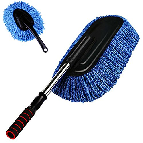 salen t car duster 2 piece extend car cleaning kit interior duster and exterior duster blue. Black Bedroom Furniture Sets. Home Design Ideas