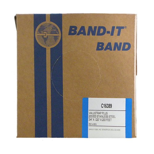 BAND-IT VALU-STRAP Plus Band C16389, 200/300 Stainless Steel, 3/4 wide x 0.020 thick (200 Foot Roll) by Band-It B005V48Y1M