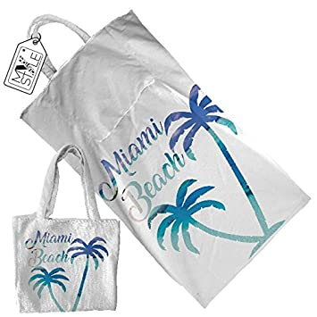 "My Custom Style® Toalla Playa personalizable modelo ""Summertime # # Miami Beach"