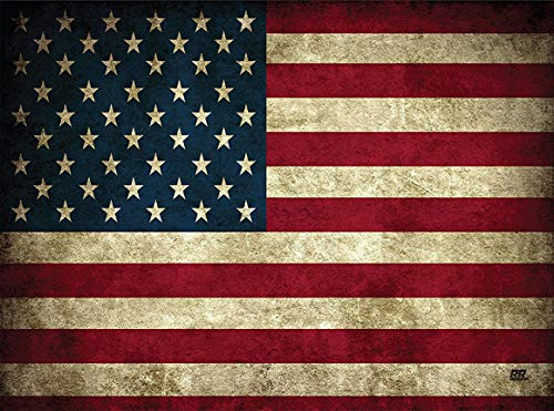 Patriotic USA Flag Glass Cutting Board Decorative American United States of America Rustic Design
