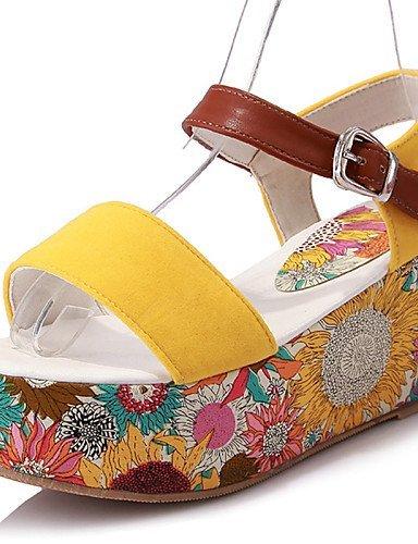 Sandals Creepers Gelb Plattform Gelb Comfort Dress Damenschuhe Rot Schwarz ShangYi Casual 1xBPpB