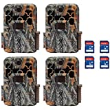 Browning 2018 Spec Ops Advantage Hunting Trail Video Camera (4 Pack) + SD Cards