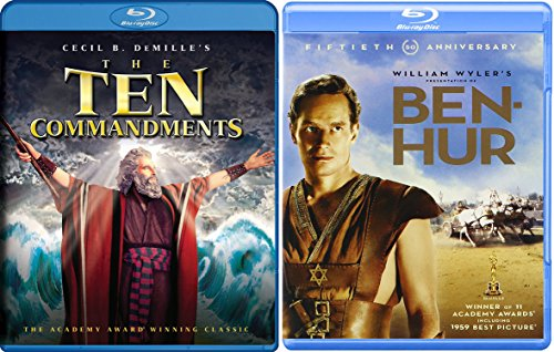 Easter Celebration 2-Blu-ray Bundle - Ben Hur & The Ten Commandments