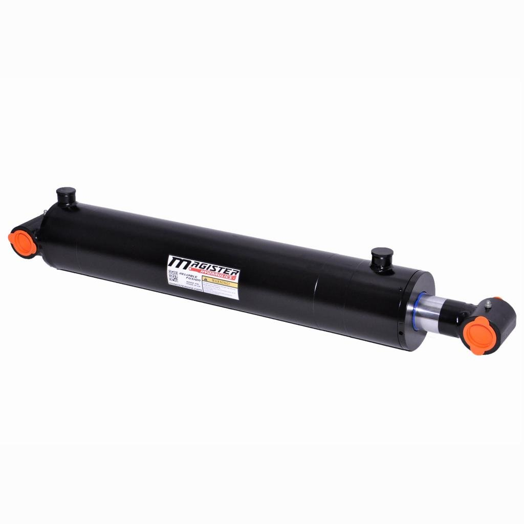 Double Acting Welded Hydraulic Cylinder 5'' Bore 16'' Stroke Cross Tube End