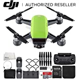 DJI Spark Portable Mini Drone Quadcopter Fly More Combo Bundle (Meadow Green)