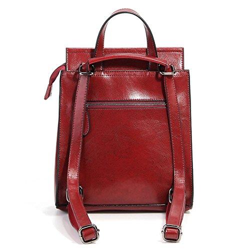 en portés Bordeaux à fashion LF femme Sac dos Sac DISSA 8967 cuir main XwBxvvY7