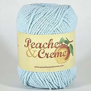 Peaches & Creme (Cream) Cotton Yarn Aquamarine 2.5 oz. (Lt Blue)