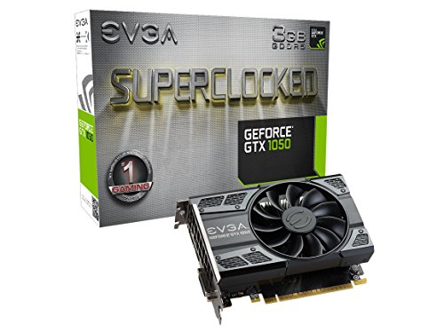EVGA GeForce GTX 1050 SC Gaming, 3GB GDDR5, DX12 OSD Support (PXOC) Graphics Card 03G-P4-6153-KR