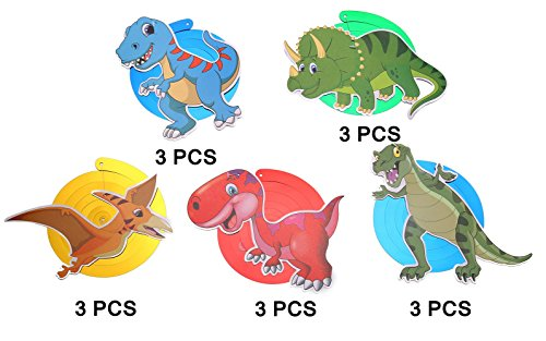 Moon Boat 30 Ct Dinosaur Hanging Swirl Decorations - Dino Fossil Jurassic T-REX Birthday Party Supplies Ornaments by Moon Boat (Image #3)
