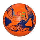 UCC Earth Orange/Blue Texturised Soccer Ball (Size 5) PVC Ball with Exlusive TEXTURISED Finish