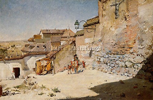 CHASE WILLIAM MERRITT SUNNY SPAIN ARTIST PAINTING OIL CANVAS REPRO WALL ART DECO 16x24inch by Elite-Paintings