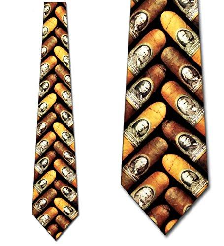 Cigar Ties Money Neckties Cigar Money Tie Mens Necktie (Money Necktie)
