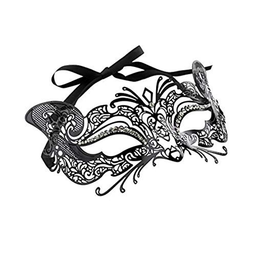 Mysterious Metal Filigree Cat Mask -