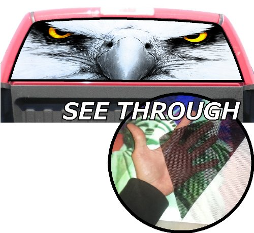P187 American Eagle Tint Rear Window Decal Wrap Graphic Perforated See Through Universal Size 65