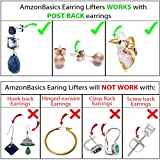 AmzonBasics - Original Magic Earring Lifters ❤ 3 Pairs of Adjustable Earring Lifts (2 Pair of Sterling Silver and 1 Pair of 18K Gold Plated) + Bonus 1 Pair Sterling Earring Backs