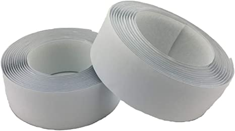 White, 3//4 x 10Meters 3//4 Wide x 10Meters Length White Sew On Hook and Loop Tape Fastening Nylon Fabric Tape