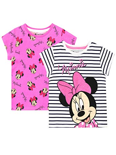 Disney Girls Minnie Mouse T-Shirt Pack of 2