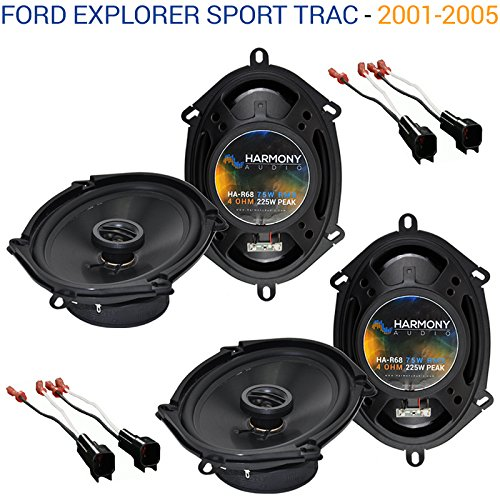 Fits Ford Explorer Sport Trac 2001-2005 Factory Speaker Upgrade Harmony (2) R68 New ()