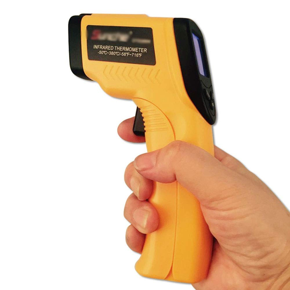 XUNHANG 0°C-50°C 10~95% RH Non-Contact Hand-held Infrared Thermometer Thermometer Industrial Electronic Temperature Gun Guns Thermometer Tools Component Tester (Color by XUNHANG