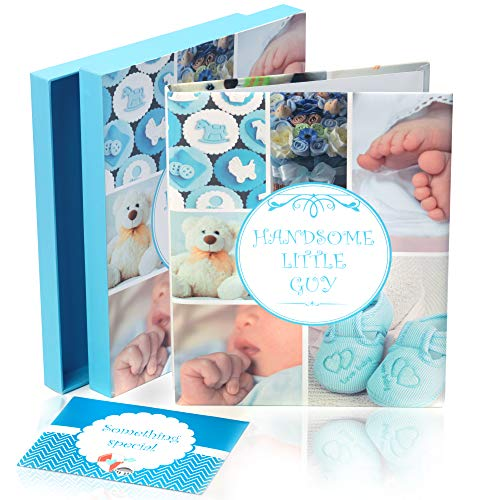 Newborn Baby Memory Book for Boy or Girl (First Year to 5) Pink and Blue Soft Cover Keepsake | Capture Photographs, Family Tree, Handprint, Footprint | Baby Shower Gift - End Softcover