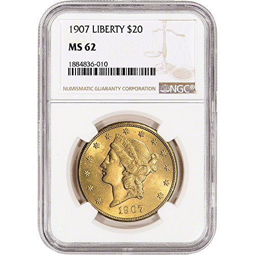 - Various Mint Marks US Gold Liberty Head Double Eagle Random Date Large Label $20 MS62 NGC