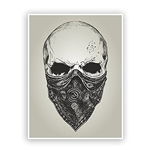 Skull with Bandana Vinyl Stickers Scary Halloween -