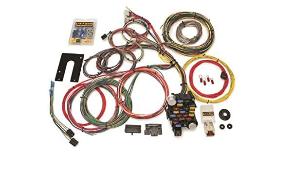 Amazon.com: Painless 10201 Universal 18-Circuit Kit: Automotive on wire sleeve, wire antenna, wire leads, wire holder, wire clothing, wire lamp, wire connector, wire nut, wire ball, wire cap,