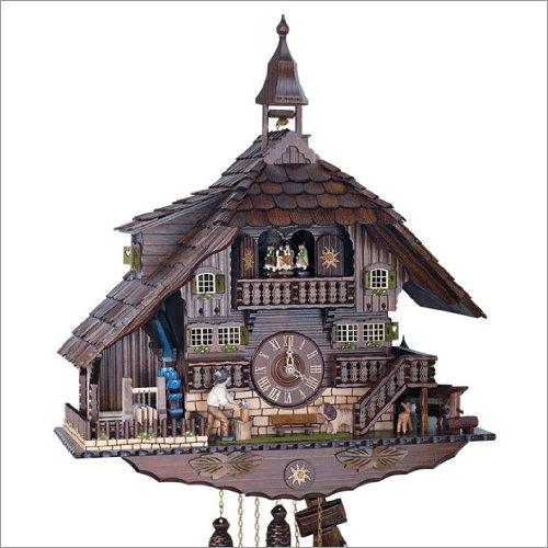 Anton Schneider Reloj cucú Casa de la selva negra con torre: Amazon.es: Hogar