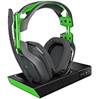 Astro A50 Over-Ear Wireless Bluetooth Gaming Headphones (Black and Green) - Used