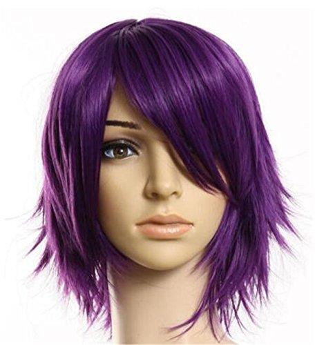 Futuretrend®40cm Layered Filp Out Heat-resist Theater Cosplay Wig-purple (Wigs Purple)