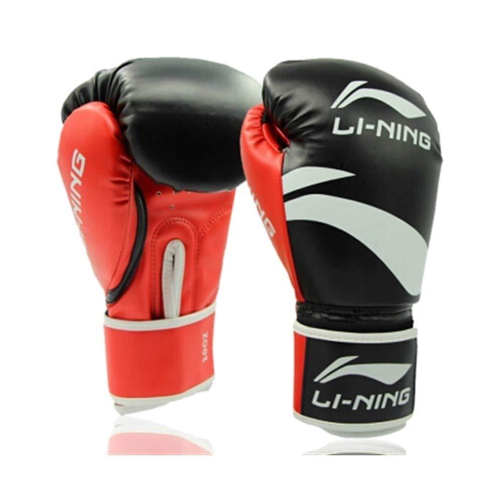 LHSY ボクシンググローブ、大人土嚢男性と女性三田ムエタイ、子供の手袋、フリーファイト、ブラック、6オズ、8オンス、10オンス、12オンスファイティング (Color : 黒, Size : 8 Oz) 黒 8 Oz