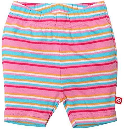 Zutano Multi Stripe Bike Shorts (Baby) - Hot Pink-6 Months
