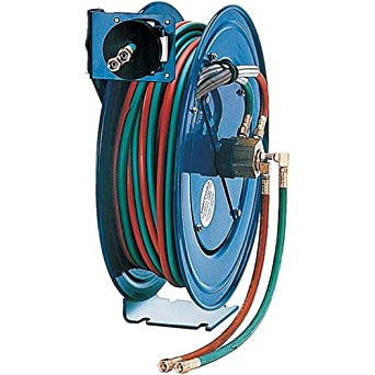 "Coxreels Spring-Driven Welding Hose Reel with Hose,, Model# P-W-125, 1/4"" Hose ID, 25' Length"