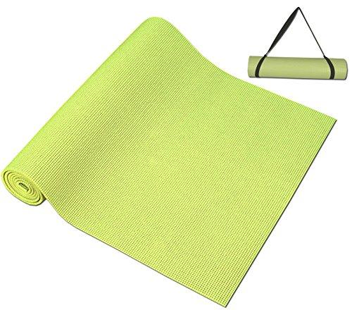 Da Vinci Light Green Yoga Mat with Carry Strap