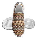DiamondsJun Unisex Ethnic Colorful Chevron Zig Zag Maya Pattern All Over 3D Printed Mesh Slip On Fashion Comfortable Shoes 43