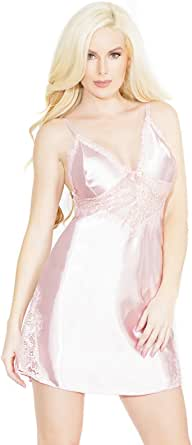 Coquette Women's Satin and Power Net Chemise