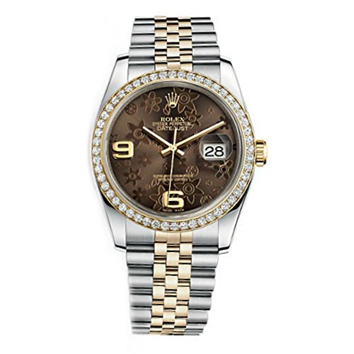 Rolex Datejust Women's Bronze Floral Dial Watch m116243-0010