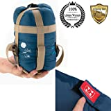 Sleeping Bag for Adults and Kids, 1 Pcs Lightweight Cold or Warm Weather Flannel Sleep Bags Compact Hammock Gear Quilt for Women, Hiking, Camping, Backpacking, Car, Deep Blue