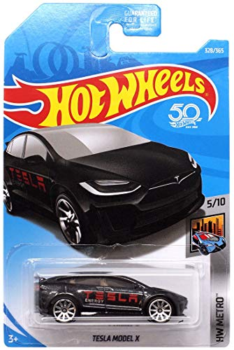 Hot Wheels 2018 HW Metro Tesla Model X 328/365, Black