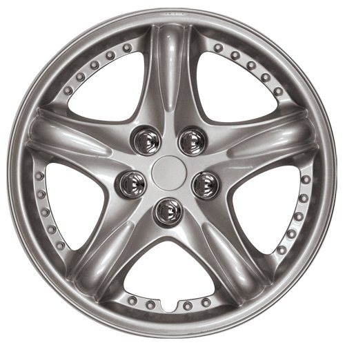 14' Silver Hubcaps (HS (45431) 14