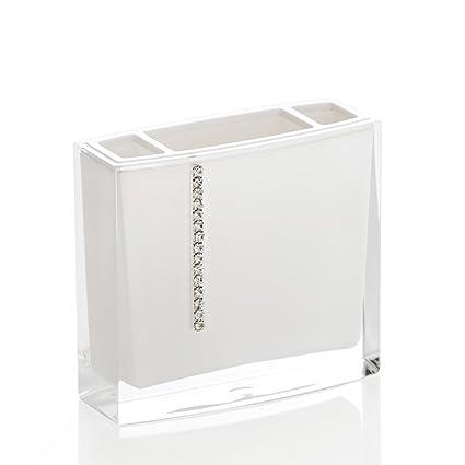 Acrílico Diamond baño grifos Soporte para cepillo de dientes Pasta estanterías con Bluetooth
