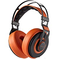 SNLSY Over Ear Headphones Wired Headsets Hifi Stereo Headphone for PC,Computer,Phone(Brown)